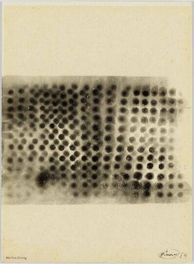 Otto Piene, 'Rauchzeichnung (Smoke Drawing)', 1959