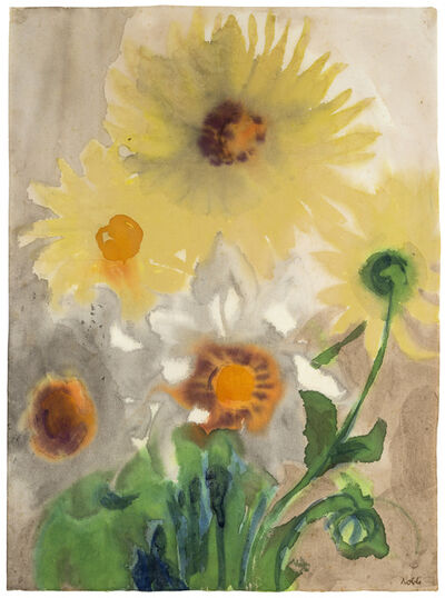 Emil Nolde, 'Gelbe Dahlien (Yellow Dahlias)', 1930