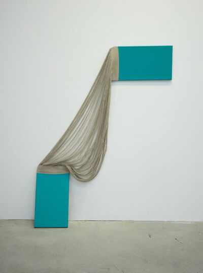 Lily de Bont, 'Tied turquoise (cornered)', 2019