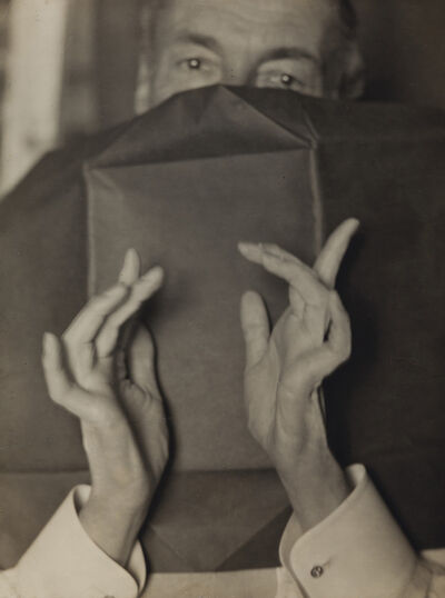 Man Ray, 'Portrait of a Half-Hidden Man With Expressive Hands (Russell H. Greeley)', 1920-1930