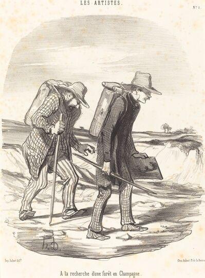 Honoré Daumier, 'A la recherche d'une forêt en Champagne (In Search of a Forest in Champagne)', 1847