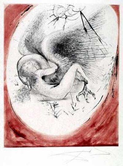 Salvador Dalí, 'Leda and the Swan (Leda et le Cygne)', 1964