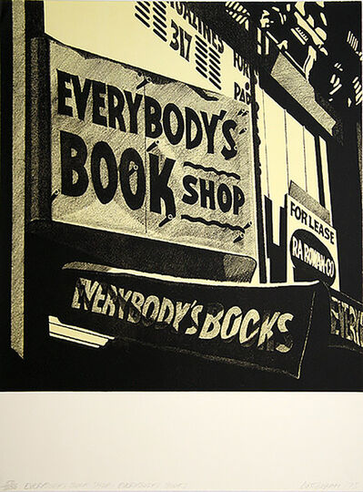 Robert Cottingham, 'Switzerland Everybody´s bookshop', 1975