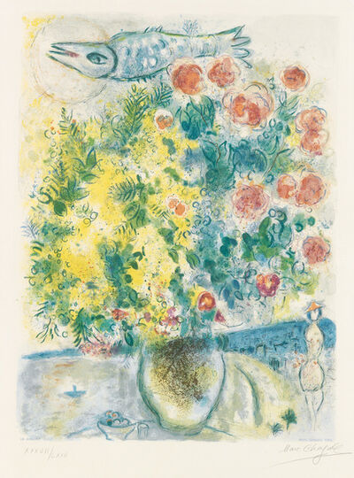 Marc Chagall, 'Roses et Mimosas from Nice and the Cote d'Azur Suite', 1967