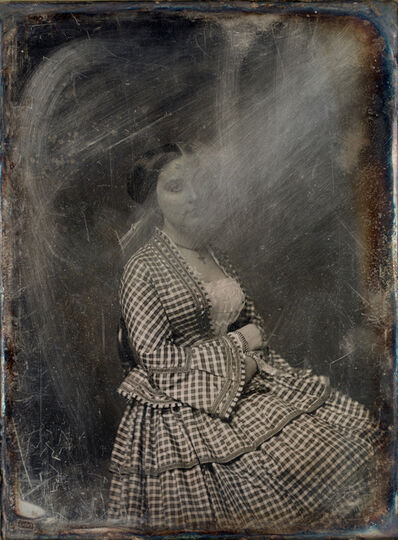 Michael Huey, 'Unknown Woman (no. 1), Based on a damaged 1850s/60s Daguerreotype by Mathew Brady', 2019