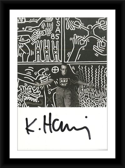 Keith Haring, 'Hand Signed Card (from the Estate of UACC President Cordelia Platt)', ca. 1986