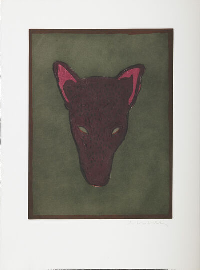 Fritz Scholder, 'Five Works of Art:  Two Etchings in Colors: Mask of a Werewolf, 1982, Untitled,  Three Lithographs in Colors: Portrait of a Dream, Portrait of a Matador, Portrait of a Werewolf'