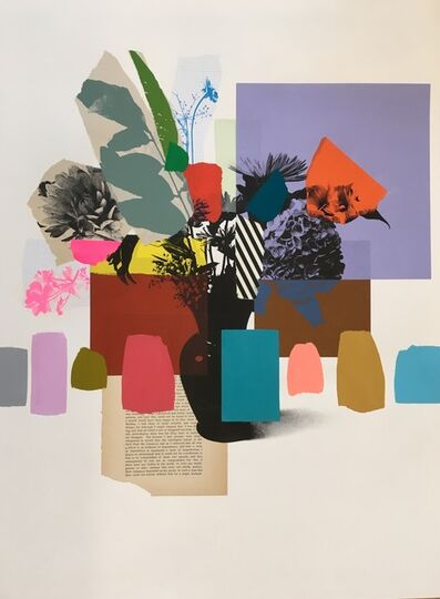 Emily Filler, 'Paper Bouquet (violet hydrangea)', 2019