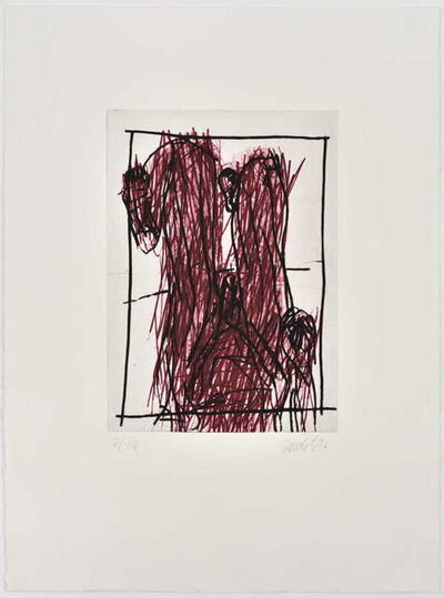 Georg Baselitz, 'Rote Knie (Genoux rouges)', 1995