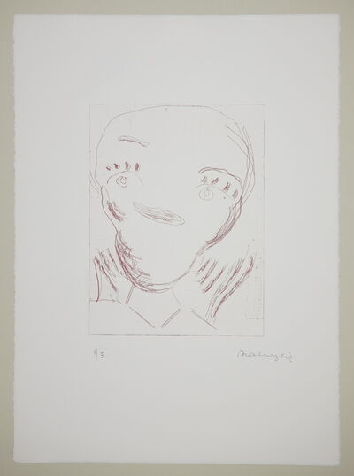 Rose Wylie, 'Pink Girls - Yellow Curls 1', 2014