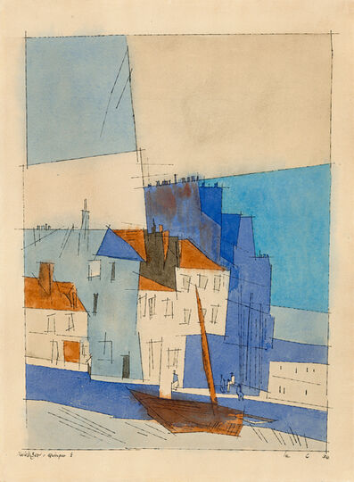 Lyonel Feininger, 'Quimper I', 1932
