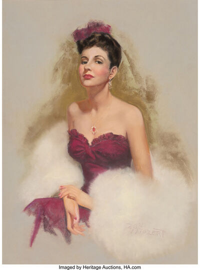 Zoë Mozert, 'Beauty in Magenta'