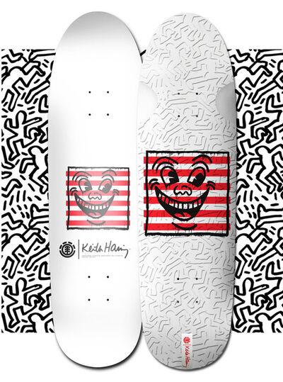 Keith Haring, 'Keith Haring Skateboard Deck (Keith Haring three eyed face)', 2018