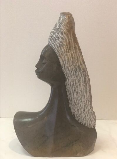 Aron Kapembeza, 'Proud Lady Leopard Rock Sculpture', 2019