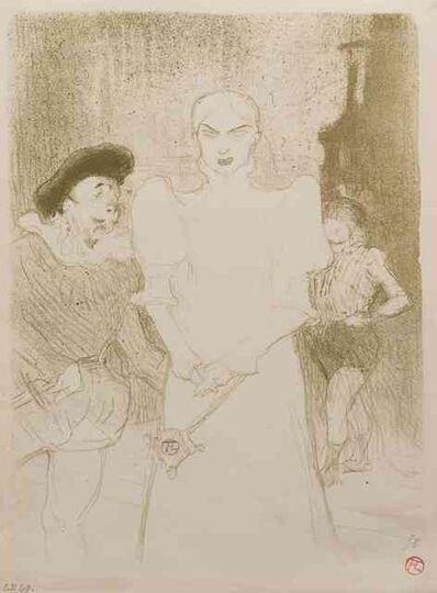 Henri de Toulouse-Lautrec, 'A l'Opera: Madame Caron dans Faust (L'Escarmouche edition)', 1893