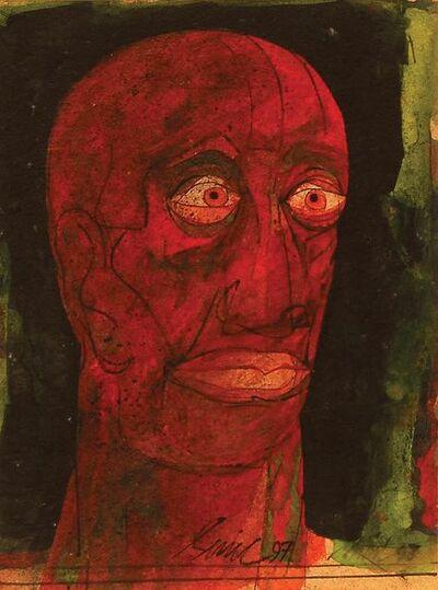 "Sunil Das, 'Head III, Acrylic Oil Watercolour Brush and Ink on Mount Board by Padma Shree Artist Sunil Das ""In Stock""', 1997"