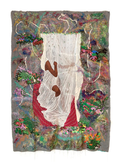 Kimathi Mafafo, 'The girl in the enchanted garden II', 2020