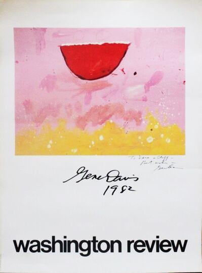Gene Davis, 'Washington Review Poster - Hand Signed and Dedicated to artist Vera Habrecht Simons', 1982