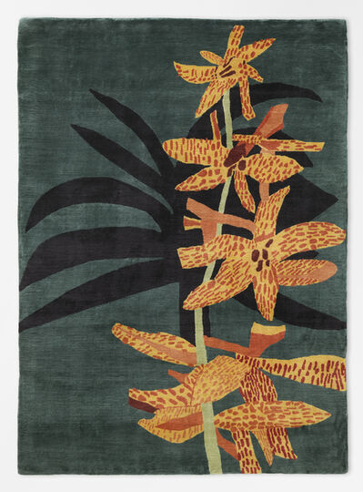 Jonas Wood, 'Yellow and Orange Orchid Clipping Rug', 2018