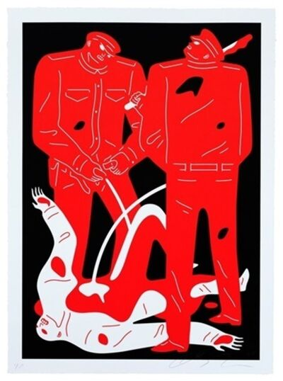 Cleon Peterson, 'Pissers (Black)', 2018