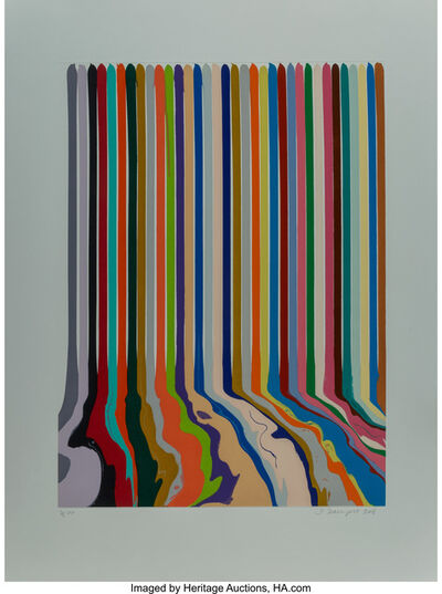 Ian Davenport, 'Etched Lines; Thirty Four', 2008