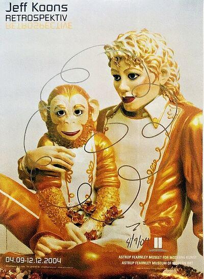Jeff Koons, 'Original Flower Drawing on Michael Jackson & Bubbles for Norwegian Gallery (Astrup Fearnley Museet)', 2004