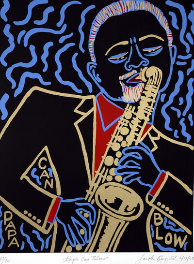 Faith Ringgold, 'Papa Can Blow ', 2005