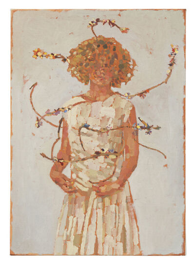 Fatma Shanan, 'Self portrait and branches', 2021