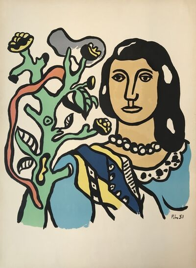 Fernand Léger, 'Woman with Tree', 1951
