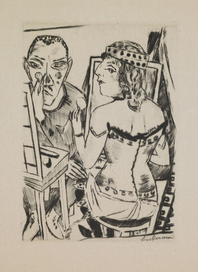 "Max Beckmann, 'Dressing Room, plate 2 from the portfolio ""Annual Fair""', 1921"