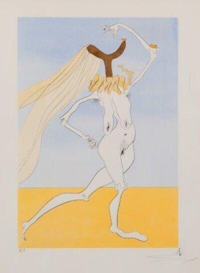 Salvador Dalí, 'Nu aux violettes (Nude with veils) [Michler & Löpsinger 768]', 1975
