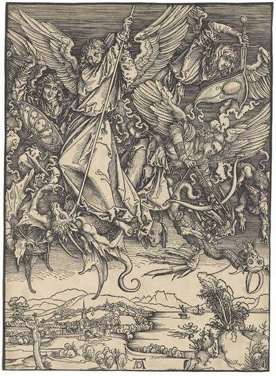 Albrecht Dürer, 'Saint Michael fighting the Dragon, from: The Apocalypse (B. 72; M., Holl. 174; S.M.S. 122)', ca. 1498