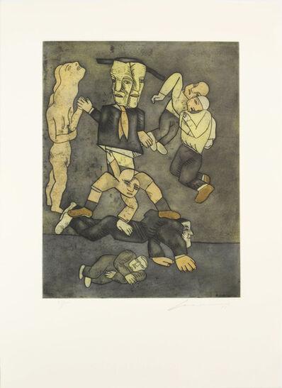 Jose Luis Cuevas, 'Cirqueros', 1998