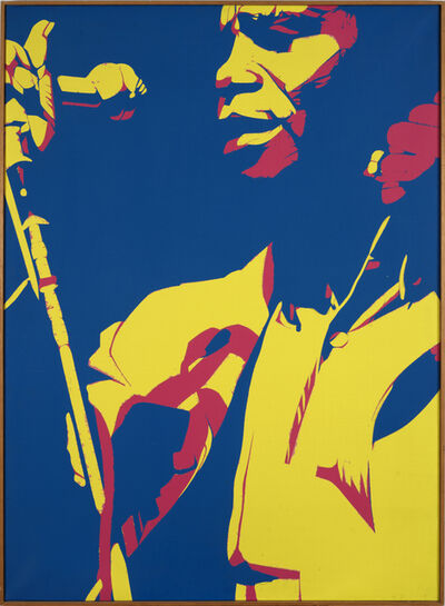 Bernard Rancillac, 'James Brown morceau N°2, 1974',  1974