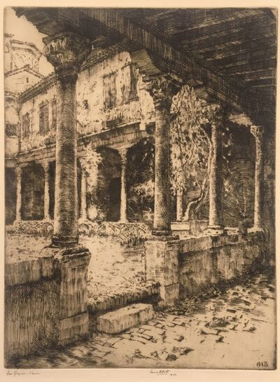 Ernest David Roth, 'Cloisters of San Gregorio, Venice', 1907