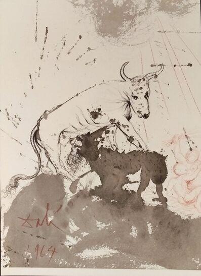 """Salvador Dalí, 'Leo quasi Bos comedens paleas - From """"Biblia Sacra"""" ', 1964"""