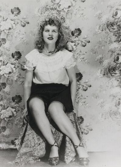 Eugene Von Bruenchenhein, 'Untitled (Crown with black skirt and ruffle top)', ca. 1940s