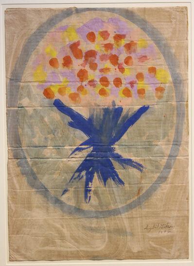 Sybil Gibson, 'Flowers in Blue Oval', 1992