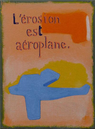 Jean-Michel Alberola, 'L'érosion est aéroplane', 2020