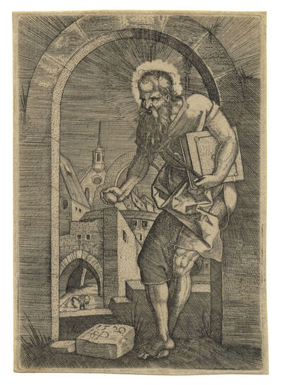Hans Sebald Beham, 'St. Hieronymus am Torbogen – St. Jerome by the Arch', 1520