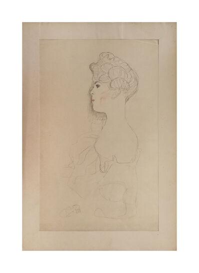 Gustav Klimt, 'Sketched Portrait', 1919