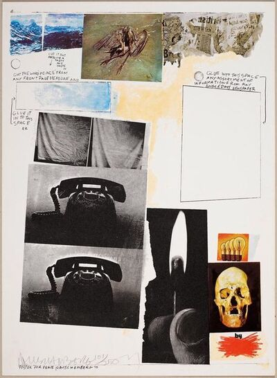 Robert Rauschenberg, 'Poster for Peace', 1971