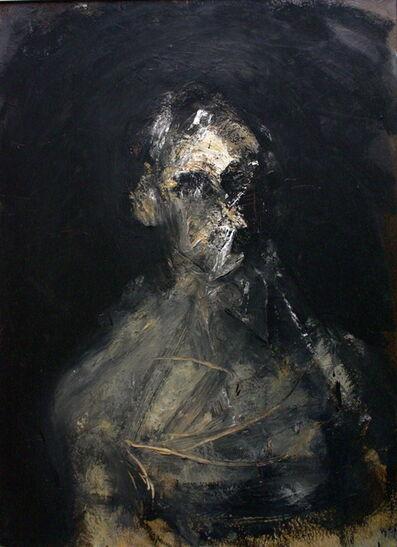 Charles Swisher, 'Head on Black', 1991