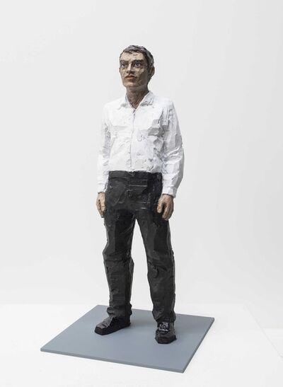 Stephan Balkenhol, 'Mann mit weißem Hemd', 2018
