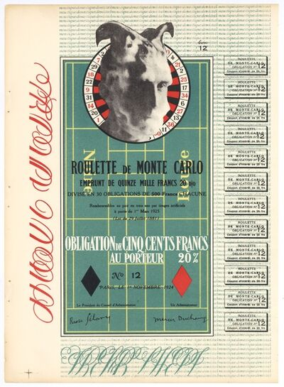 Marcel Duchamp, 'Obligation Monte Carlo', 1938