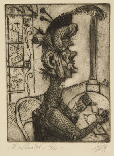 Otto Dix, 'Old Woman at the Café', 1920