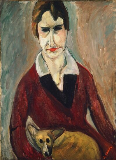 Chaim Soutine, 'Woman with a Dog', 1917-1918