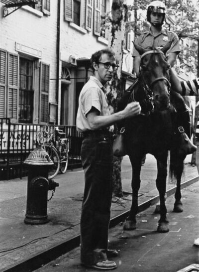 Rose Hartman, 'Woody Allen directing a film in the heart of New York City's Greenwich Village, circa 1985', ca. 1985