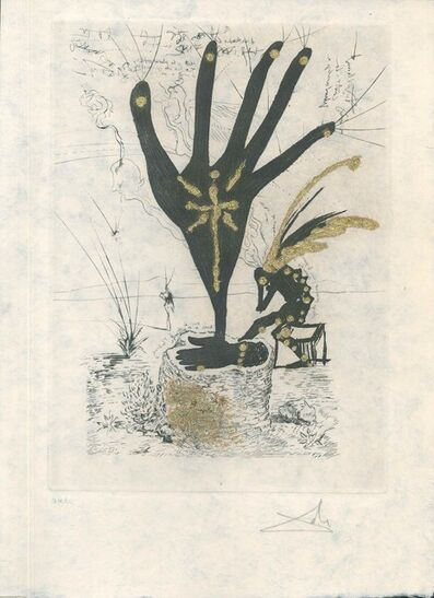 """Salvador Dalí, 'Fleur d'Art - from """"Les Amours Jaunes""""', 1974"""