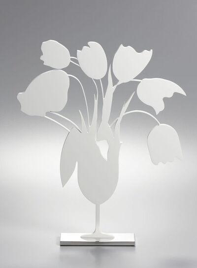 Donald Sultan, 'White tulips and vase, April 4 (Sculpture)', 2014